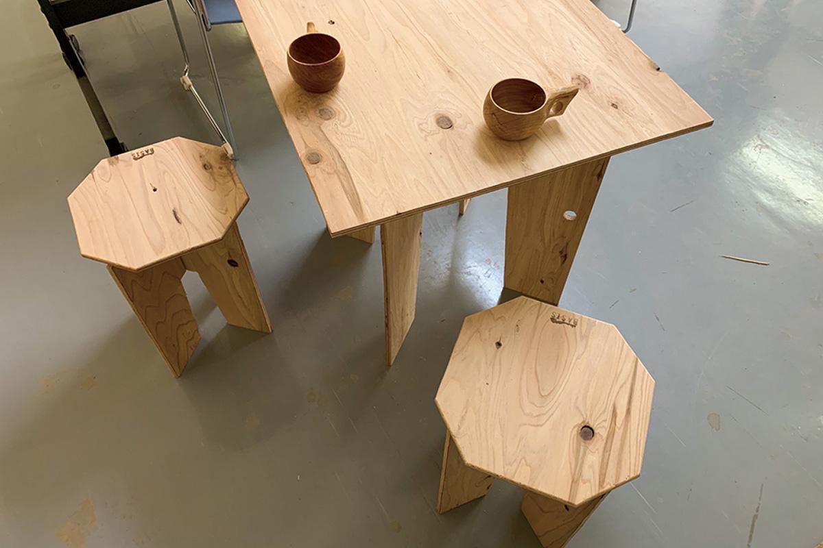 アウトドアテーブル制作